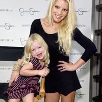 Jessica Simpson Joined By Her Daughter At Runway Show
